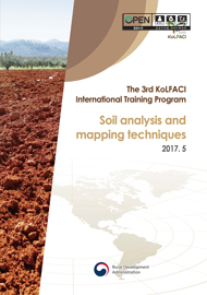 Soil Analysis and mapping techniques :The 3rd KoLFACI International Training Techniques