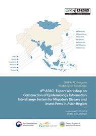 8th AFACI Expert Workshop on Construction of Epidemiology Information Interchange System for Migratory Disease and Insect Pests in Asian Region
