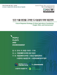 인간·식물·환경을 고려한 도시농업의 미래 대응전략 :2018년 도시농업 추계 국제 심포지엄 및 학술대회